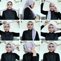 tutorial hijab simple kebaya 6
