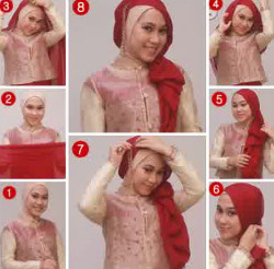 tutorial hijab simple kebaya 8