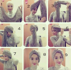 tutorial hijab simple kebaya
