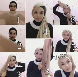 tutorial hijab simple segi empat 13
