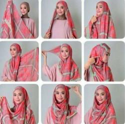 tutorial hijab simple segi empat 5