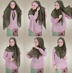 tutorial hijab wisuda segi empat 11