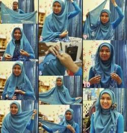 tutorial hijab wisuda segi empat 12