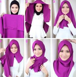 tutorial hijab wisuda segi empat 3