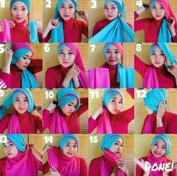 tutorial hijab wisuda segi empat 9