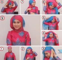 tutorial hijab wisuda untuk wajah bulat 1