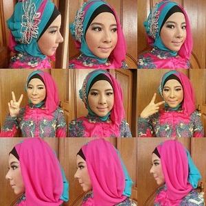 Hijab Kebaya Wisuda Dua Warna Glamour