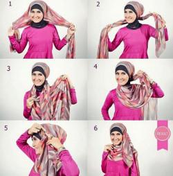 tutorial hijab ala zaskia sungkar 6