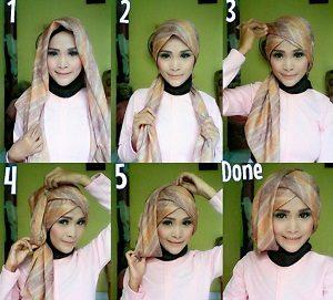 Tutorial Hijab Wisuda Wardah 24