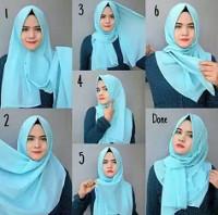 tutorial hijab kekinian instagram 13