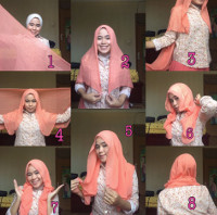 tutorial hijab kekinian instagram 14