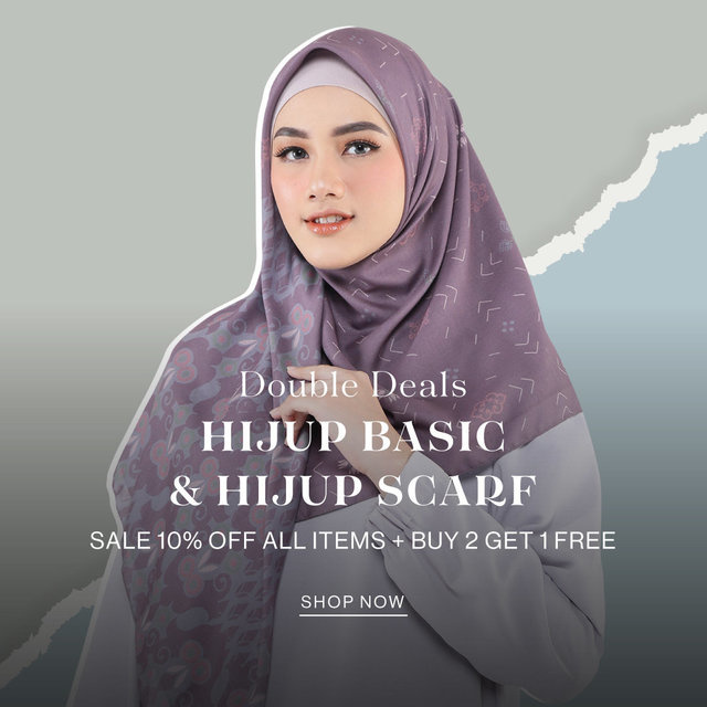 Double Deals HIJUP BASIC & HIJUP SCARF