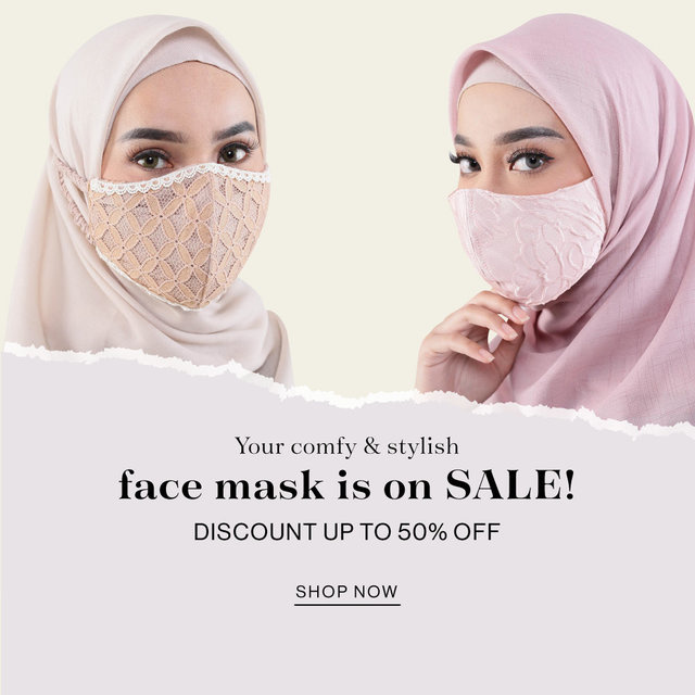 Your comfy & stylish face mask is on SALE! Discount up to 50% OFF