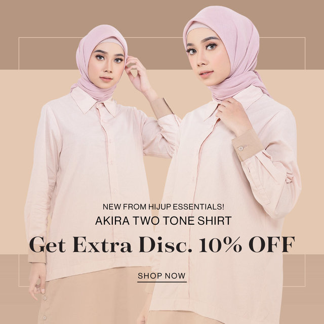 NEW FROM HIJUP ESSENTIALS! Akira Two Tone Shirt Get Extra Disc. 10% OFF