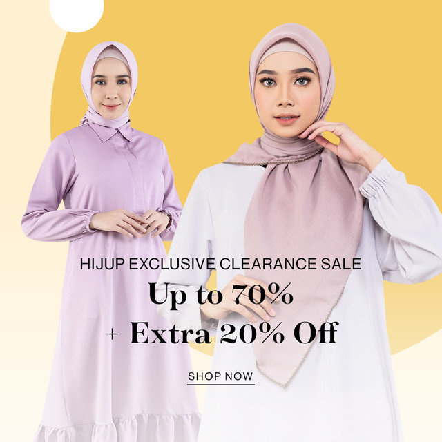 HIJUP EXCLUSIVE CLEARANCE SALE Up to 70% + Extra 20% OFF