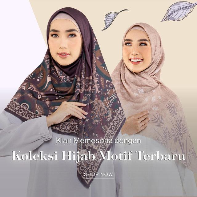 Kian Memesona dengan Koleksi Hijab Motif Terbaru
