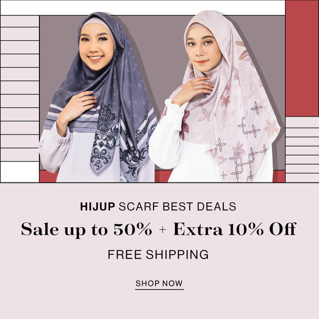 HIJUP SCARF BEST DEALS Sale up to 50% + Extra 10% OFF