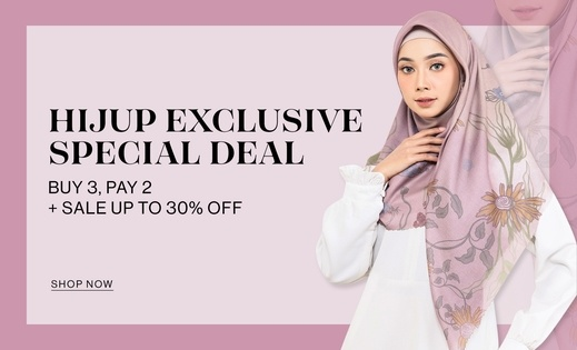HIJUP EXCLUSIVE SPECIAL DEAL BUY 3, PAY 2 + Sale up to 30% OFF