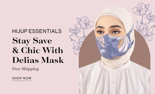 HIJUP ESSENTIALS STAY SAFE & CHIC WITH DELIAS MASK