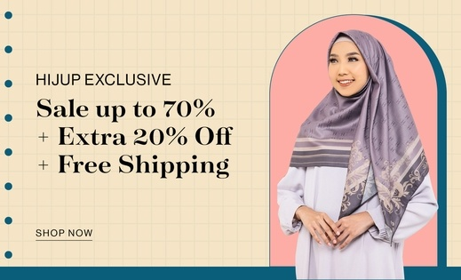 HIJUP EXCLUSIVE Sale up to 70% + Extra 20% OFF + Free Shipping