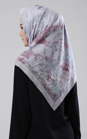 Song Of the Sea Viole Cotton Scarf in Algae