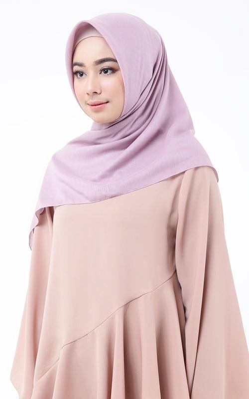 Hijab Polos - Textured Scarf for HIJUP - Lilac Sachet