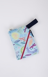 Blue Leaves Diagonal Pouch