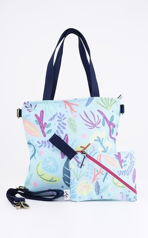 Blue Leaves Sling Bag Set