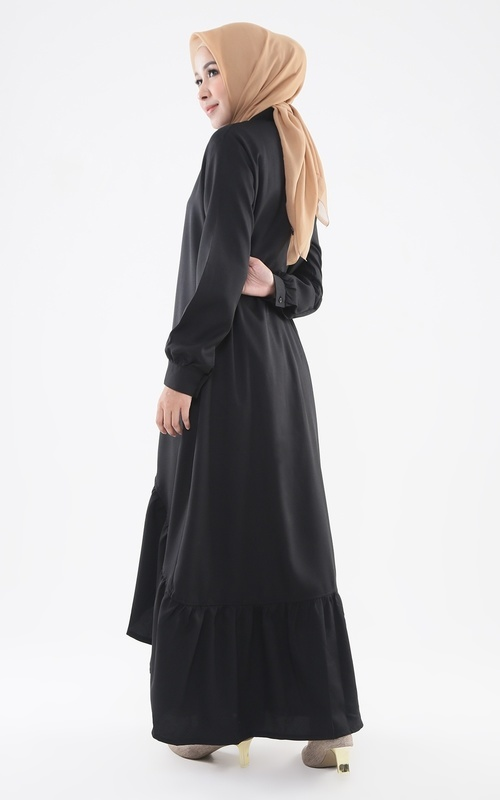 Long Dress - Freesia Dress - Black