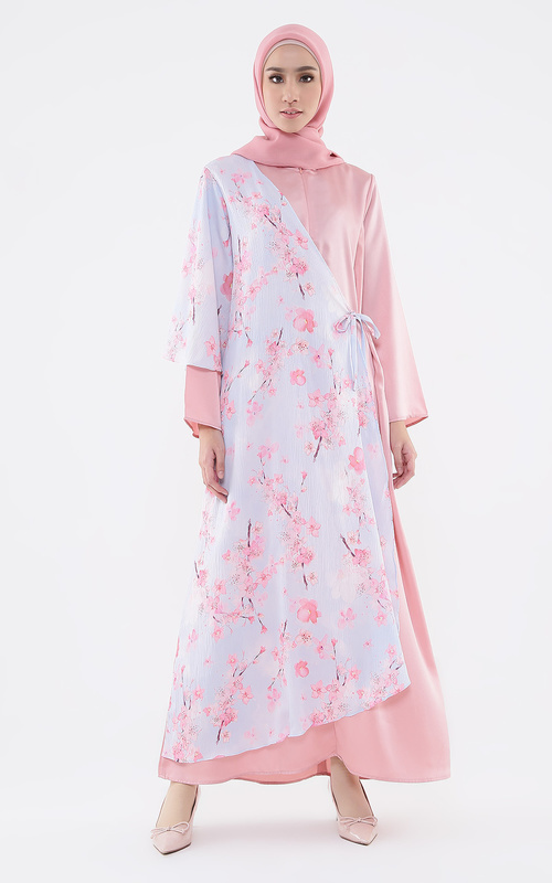 Long Dress - Sakura Dress Baby.19 (Blue Blossom Kareem Series) - Sakura-Baby Pink