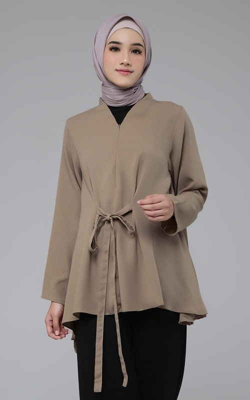 Blouse - Zullfa Top - Dark Cream (D)