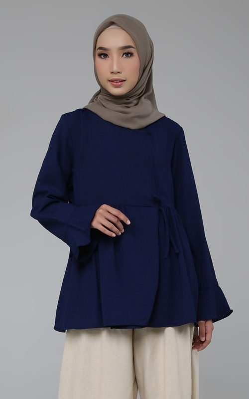 Blouse - Nazia Top - Navy (B)