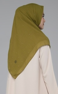 Plain Scarf Universe Black Label Scarf Lime Gold