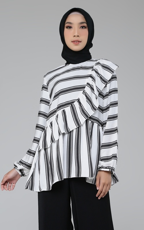 Blouse - Lindsey Top (Linea Series) - Black White