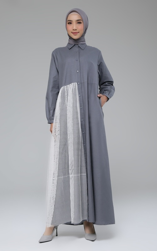 Gamis - Edessa Dress - Dark Grey