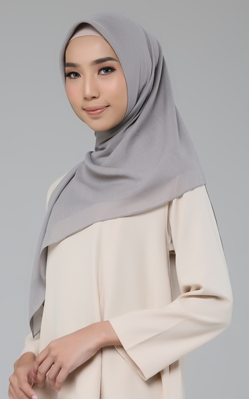 Plain Scarf - Cotton Candy V - Olive Green