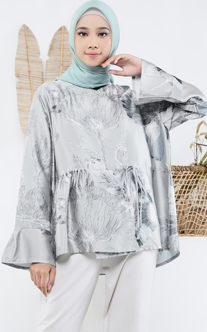 Poppies Top Grey for HIJUP