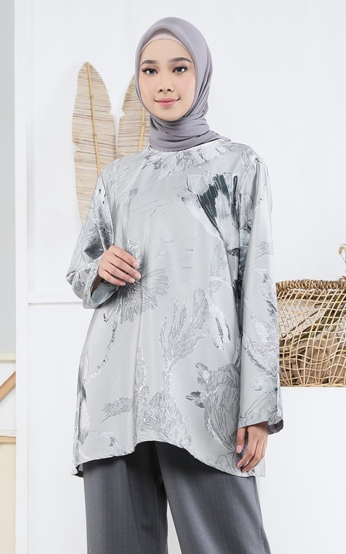 Cape - Poppies Rompie Grey for HIJUP - Grey