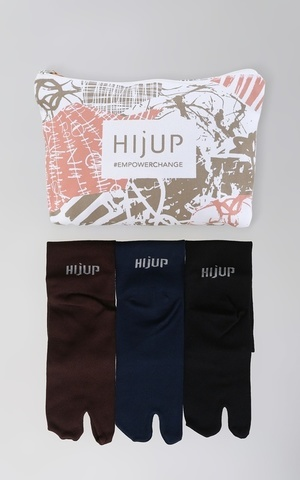 Plain Thumb Socks Trio Set
