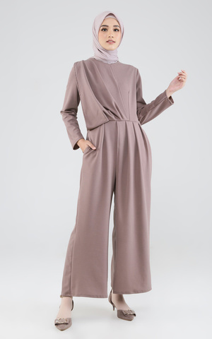 Evelyn Jumpsuit Brown