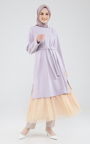 Lilly Tunic Dusty Purple - Cream