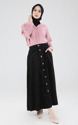 Suede Skirt w/ Button