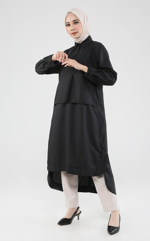 Tunic - Tora Dress - Black