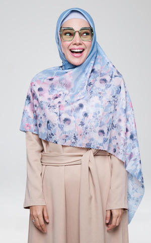 New Kasih Scarf Steel Blue