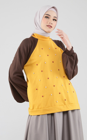 Raglan Emroidered Sweater