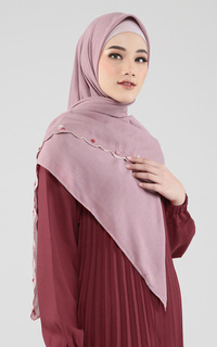 Mosa Embroidered Square Scarf