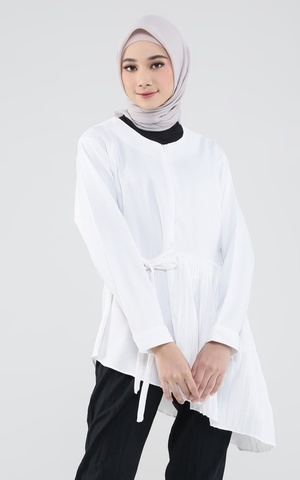 Blouse Pleats Ruffle Runi