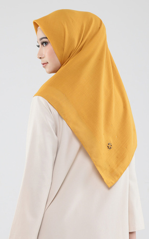 Shimmer Black Label Scarf - Mustard