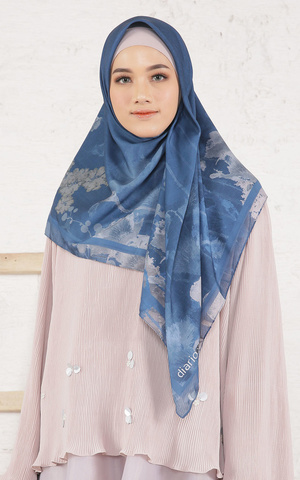 Callia Blue Scarf Voal for HIJUP
