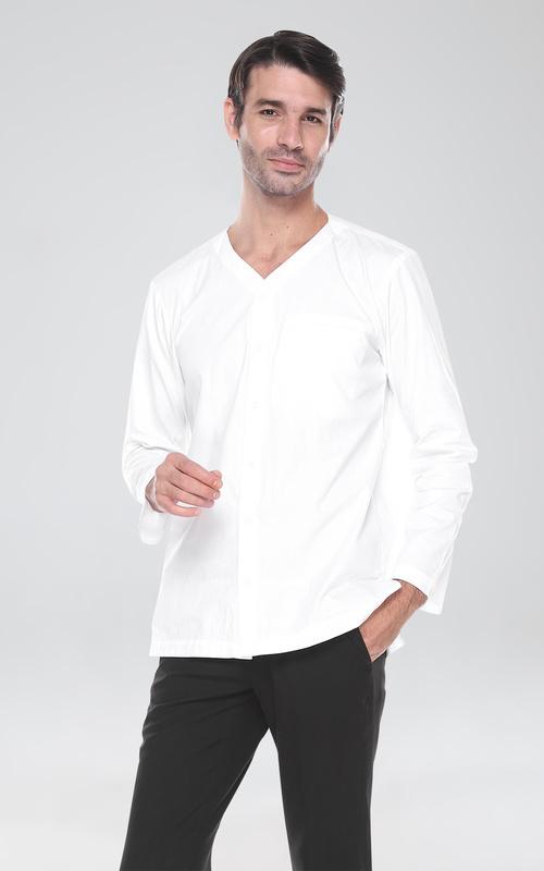 Menswear - Zuhdi Koko Casual White - White